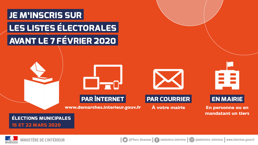Infographie Inscription listes electorales 2020 Vote par procuration